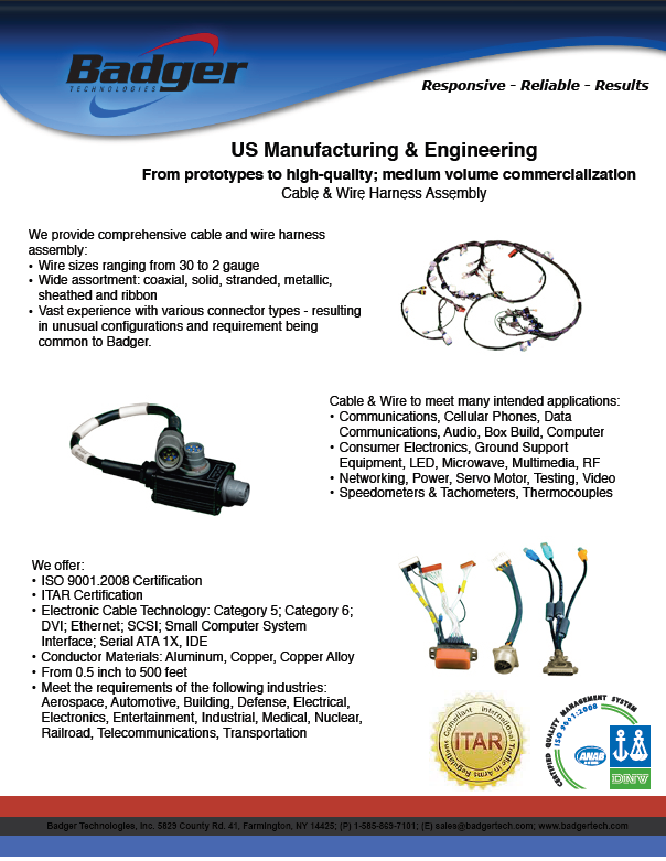 Fact Sheets - Farmington, NY - Badger Technologies, Inc. on wire holder, wire nut, wire leads, wire cap, wire connector, wire lamp, wire antenna, wire sleeve, wire clothing, wire ball,