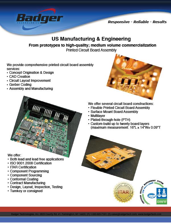 Fact Sheets - Farmington, NY - Badger Technologies, Inc